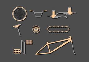 Vecteur gratuit de composants de bicyclette