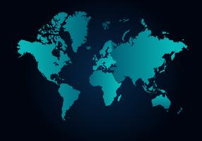 Världskarta Gratis Vector