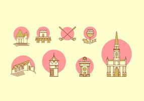 Edinburgh Icon Set Free Vector