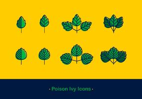 Poison Ivy Icon vecteur gratuit