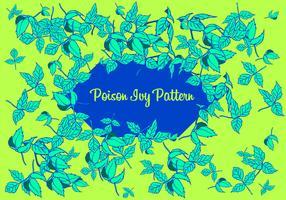 giftig ivy mönster fri vektor