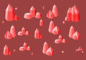 Vecteur gratuit de quartz rouge