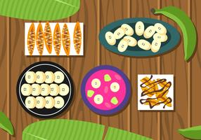 Banana Plating Variants Free Vector