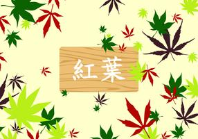 Japanese Maple Pattern Free Vector