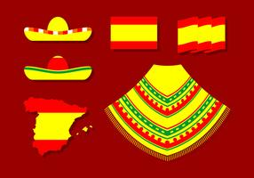 Vector libre de poncho español