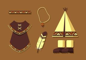 Indian Poncho Gratis Vector