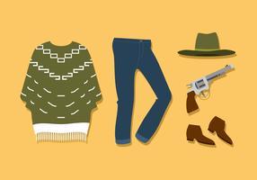 Cowboy-Poncho-freier Vektor