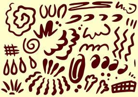 Varje grundläggande form av Squiggle Free Vector