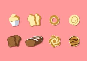 Various Kinds Of Bread Free Vector
