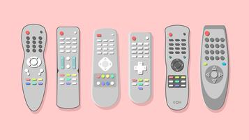 Silver TV Remote Free Vector