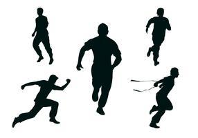 vector de siluetas de corredor libre