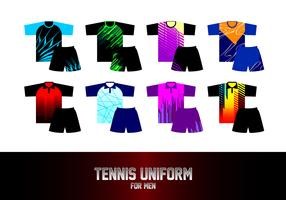 Tennis Uniform voor mannen Gratis Vector