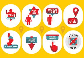 You Are Here Vector Icons