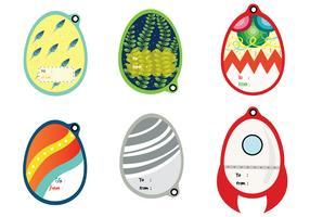 Paquete de vectores de etiquetas de regalo de Pascua