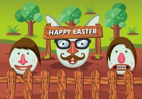 diseño de hipster del vector de Pascua