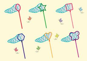 Butterfly Net Vector Pack
