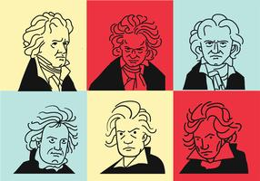Beethoven Clipart vectoriel