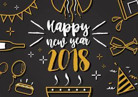 Feliz año nuevo 2018 Arte vectorial