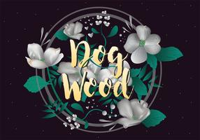 Dogwood Clipart vectoriel