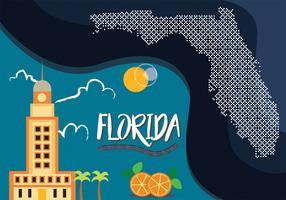 Diseño de Vector de Mapa de Florida