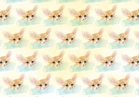 Free Vector Pattern With Painted Fox Heads