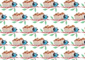 Free Vector Pattern With Painted Birds