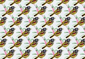 Free Vector Birds With Leaves Pattern