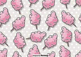 Vector Seamless Candy Floss Pattern