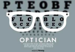 Fundo de teste de olhos vetoriais