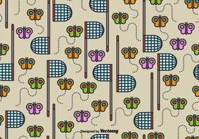 Vector Cute SEAMLESS Butterfly Net Pattern