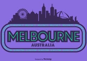 Vector Illustration Of Melbourne City Skyline