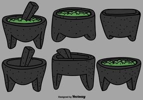Vector mexicana Molcajete Color Icons