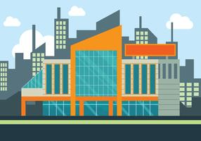 Shopping Center Vector Illutration