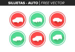 Siluetas Auto Gratis Vector