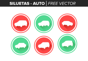 siluetas auto free vector