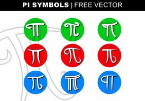 vetor de símbolos de pi sim