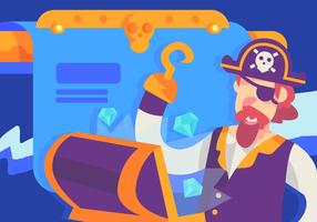 Kapten Pirate Found Treasure