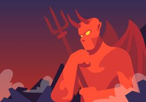 Lucifer And Hell Fork vector