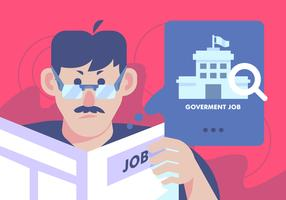 Regierungs-Job-Suchvektor