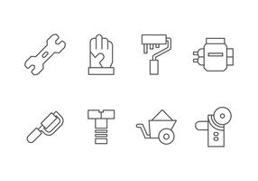 Handmade, DIY, Bricolage Tools Set Icon