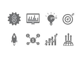 Revenue set vector icon