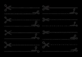Tijeras con Vector de líneas de corte