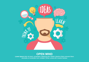 Open Mind Vector Illustration