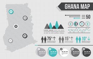 Infografia do Mapa de Gana