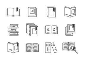 Libro Pictogrammen Vector