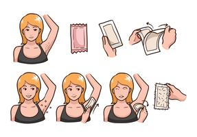 Armpit Waxing Step vector