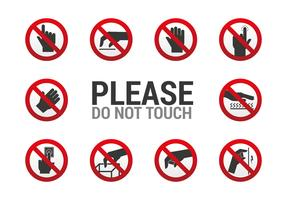 Do Not Touch Sign vector