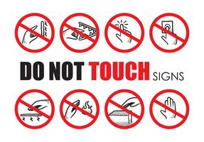 Ne touchez pas le signe vecteur Pack
