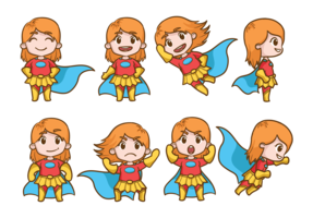 Superwoman Cartoons Vector