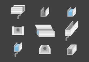 Gutter Icons Vector